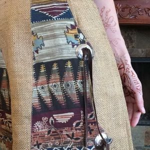 Vintage Skirts - Southwestern Maxi Burlap (lined) skirt